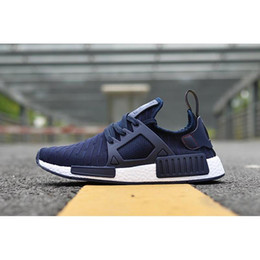 Wholesale Li Ning Shoes - 2017 the NMD Runner 3 III XR1 Camo x City Sock PK Navy Primeknit Running Shoes For kids Fashion Sports Sneakers Trainers us kids 36-45