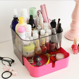 Desk Plastic Drawer Style Cosmetic Organizer Clear Makeup Jewelry Storage  Display Box Case Stand Rack Holder Organizer UK Part 94