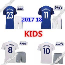 Wholesale Blue Black Stone - Top 17 18 Rooney everton kids kit boy Jersey BARKLEY Jersey everton Shirt 2017 2018 Soccer Jerseys Uniforms BAINES LUKAKU McCARTHY STONES