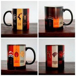 Wholesale Porcelain Family - Game Of Thrones Mug Families Banners Cup Heat Changing Color Magic Stark Ceramic Coffee Cups 48pcs LJJO3143