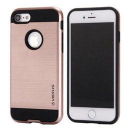 Wholesale Gold Back Cover Iphone 4s - VERGE Dual Layered Hard Tough Case Hybrid Shockproof Slim Armor back cover for iPhone X 10 ten 8 7 6 6S Plus 8Plus 7plus 6plus 5 5S SE 4 4S
