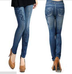 Wholesale Vintage Colored Pencils - Wholesale- New Vestidos Women Vintage Jeans Tights Pants Trouser Tight Stretch Skinny Leggings