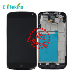 Wholesale Lg Nexus Screen - Good quality For Google Nexus 4 LG E960 OEM replacement LCD display and digitizer Touch Screen panel with without frame + free tools