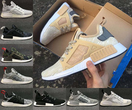 Wholesale Adult Ski Camps - (With Box) Hot New High Quality Adult NMD XR1 Fall Olive green Sneakers Women Men Youth Glitch Black White Blue Camo Running Shoes
