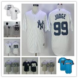 Wholesale Cheap Pinstripe Baseball Jerseys - Flexbase 2017 New York Yankees Aaron Judge Jersey 99 Baseball Home White Pinstripe Road Blue Grey NY 26 Tyler Austin Jerseys Cheap Stitched