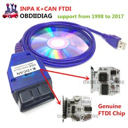 Wholesale K Dcan - Genuine FTDI Chip INPA Ediabas K+DCAN For BMW with Switched USB Interface full diagnostic of BMW from 1998 to 2017