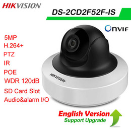 Wholesale Dual Network Alarms - Hikvision Original english version DS-2CD2F52F-IS 5MP POE card slot Dual stream Audio&Alarm CCTV IR H.264+ 120db WDR network IP PTZ Camera