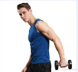 Esportes colete série de fitness correndo treinamento rápido seco respirável simples sólido selvagem de Fornecedores de esportes simples