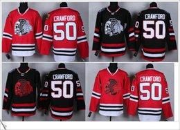 Wholesale Skull Head Sweater - #50 Corey Crawford Stitched Embroidery Red Black Chicago Blackhawks Men Sport Ice Hockey Sweater Team Pro Jerseys skull head Size M-XXXL