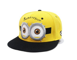 Wholesale Despicable Characters - Parent-child cap despicable me god steal dads yellow hat winter and autumn hip-hop cap baseball tide of children