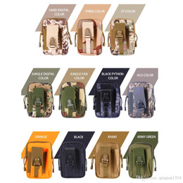 Wholesale Military Phone Covers - Unisex Tactical Military Waist Bum Bag Molle Pouch for Universal Mobile Phone Multifunction Money Belt Protective Cover Case