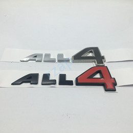 Wholesale Mini Door Stickers - 10pcs lot ALL4 Emblem Metal Decal For Mini Cooper Countryman Paceman Clubman All 4 Car Fender Side Badge Nameplate