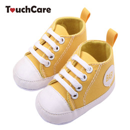 Wholesale Baby Girl Red Bottom Shoes - Fashion Infant Toddler Newborn Shoes Baby Girl Boy Sports Sneakers Soft Bottom Anti-slip T-tied First Walkers Prewalker