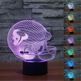 Wholesale 2pc New D Night Light Touch Button Colors Change LEDTable Lamp Gift Mix Order Custom Any LED College Football Baseball Fan Light A26