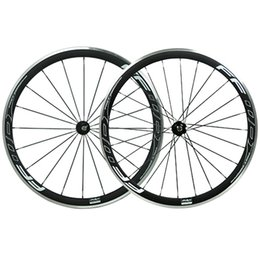 Wholesale Carbon Alloy Road Wheels 38mm - FFWD Full Carbon Bike Wheels 38mm 3K Matte Finish Alloy Brake Surface Carbon Bike Wheels Clincher Novatec 271 372 Hubs 20 24 Spokes