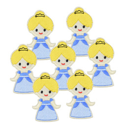 Wholesale Wholesale Iron Princess Patches - Princess patch for clothing iron embroidered Diy patches applique iron on patches sewing accessories badge stickers for clothes