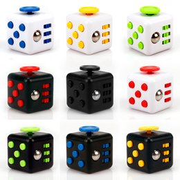 Wholesale Dice Funny - 11patterns Squeeze Fun Fidget Cube Toy Dice Anxiety Attention Anti stress Puzzle Magic Relief Adults Funny Fidget Toys