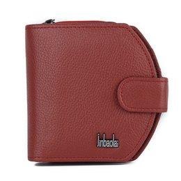 Wholesale Portfolio Ladies - 2017 Wallet Brand Ladies Designer Portfolio Women Stitch Genuine Leather Purse Soft Surface Multifunction Money Bags Coin Pocket
