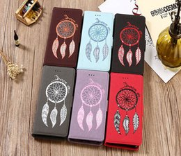 Wholesale Wholesale Cell I Phones - Waterproof Wind Chimes Cell Phone Flip Cover for iphone 7 Plus Luxury Phone Cases i Phone 6s Plus Wallet Case S6 S8