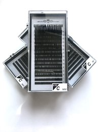 Wholesale Tray Eyelash Extension - 15rows case,6~15mm mix in one tray, high quality synthetic mink,natural mink,individual eyelash extension,cilios false eyelashes