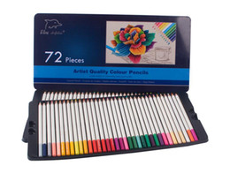 Wholesale Gift Box For Pencil - Colored Pencils 72-Pack with Tin Case,Great Art School Supplies For Kids & Adults Coloring Books,Soft Core Colored Pencils