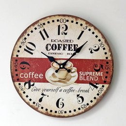 Wholesale Wood Wall Watch - Wholesale-2016 Hot Sale Duvar Saati Watch Zakka Home Coffee Wood Office Frameless Round Wall Clock Fashion Ornaments For Decoration