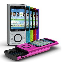 Wholesale Orange Slides - Refurbished Original Nokia 6700S 6700 Slide Unlocked Phone Symbian OS 2.2 inch Screen 5.0MP Camera GSM 3G Cell Phone English Keyboard