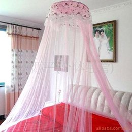 Wholesale Wholesale Canopy Beds - Good Sleeping Graceful Elegant Bed Curtain Netting Canopy princess Double Lace Mosquito Net Ceiling nets heightened encryption high quality