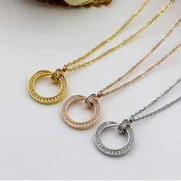 Wholesale Crystal Necklace Pendents - Wholesale selling necklace&pendents 2017 stainless steel jewelry for women with crystal jewelry wholesale