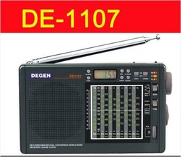 Wholesale Degen Sw Radio - Wholesale-DEGEN DE1107 DIGITAL CLOCK FM AM SW MULTI BAND RADIO