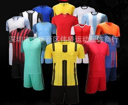 Wholesale Wholesale Denim Floral Shirt - Best selling football team Running plate short sleeved training breathable absorbent games sports shirt suits