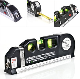 Wholesale leveler tool - Laser Level Aliger Horizon Vertical Measure Tape Ruler Best Professional Craftsman Self Leveling Leveler For Multipurpose Tool