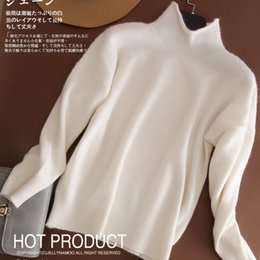 Wholesale Plus Sizes Woman Sweaters - Wholesale-Women Sweater PLUS SIZE 100% Pure Cashmere Knitted Pullovers 2016 Winter Thick knitwear Female Turtleneck Tops Standard Clothes