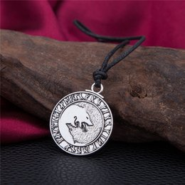 Wholesale cheap letter charms - Fashion Cheap Engraved Special Letter Teen Wolf Pendant Ethnic Necklace Men Pendants Norse Viking Runes Amulet Jewelry