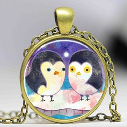 Wholesale Jewelry Penguin Pendant - Free shipping Penguin Necklace, Penguin Jewelry, Animal Jewelry Glass Dome Art Pendant Necklace Photo Dome Pendant