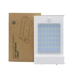 Wholesale 49 led - New Arrival 500LM 49 LED Solar Power Street Light PIR Motion Sensor Light Garden Lamp Outdoor Street Aluminium Panel Wall Lights