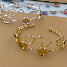Настройки линии онлайн-BoYuTe новый продукт 5шт 12мм кабошона настройки DIY металлические браслет линии витой серебро золото браслеты