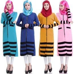 Wholesale Strech Dresses - Abaya turkish 4-way strech crepe fabric women Muslim Dress Islamic gown for women robe Dubai dress gown E110