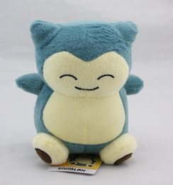 """Wholesale 15cm Dolls - Poke Doll Pikachu Snorlax Dragonite 6"""" 15cm Plush Doll Stuffed Toy Animals For Baby Best Gifts -D028"""