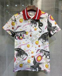 Wholesale Lapel Shirt Classic Women - Luxury Fashion Men and Women Sun Tiger polo shirts fashion classic lapel short sleeve Hawks Polos Planets Navy Blue M-XXL