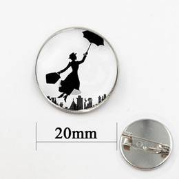 Wholesale Personalized Picture Jewelry - Mary Poppins film star jewelry art picture landscape photo glass cabochon wearable art personalized gift for men and women