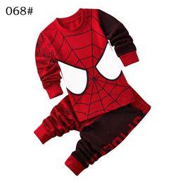 Wholesale Minions Kid Sleepwear - Baby Girl Cartoon Superman Pijamas Boy Spiderman BatMan Pyjamas Sleepwear Children Clothing Sets Kids Minions Pajamas