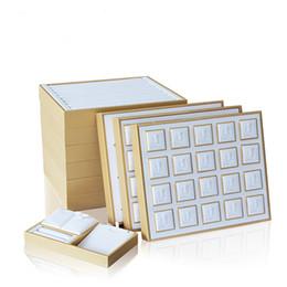 Fascini commerciali online-Espositore per gioielli in pelle PU impilabile per espositori per gioielli in vetrina
