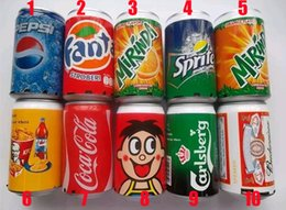 Wholesale Speakers Coke - Mini Speaker Cans Coke Pepsi Fanta 7-Up Sprite Zip-top Can Speakers USB TF Card Portable Sound Can With Retail Package