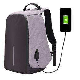 Мода противоугонные 15,6 дюймов ноутбук рюкзак Мужчины Женщины внешний USB заряд ноутбук рюкзак школьный Mochila мужской feminina от