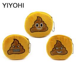 Wholesale Wholesale Novelty Coin Pouch - Wholesale- Cute Style Novelty Emoji Shit Zipper Plush Coin Purse Kawaii Children Bag Women Wallets Mini Change Pouch Bolsa