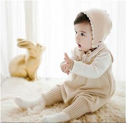 2019 denimkleid weißer kragen 2017 neue frühling herbst infant baby sleeveless gestrickte strampler kleinkind pullover hosen kinder overalls overalls jungen mädchen ein stück