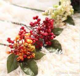 Wholesale Silk Flower Foam - New arrival DIY foam berry cluster fruit greenery silk flowers artificial decorative flowers for home wedding market decoration 13792