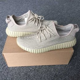 Wholesale Men Rubber Boots Wholesale - Professional Oxford Tan 350 Boots AQ2661 Running Shoes Fashion Women and Men 350 Boost cheap Outdoor Sports Running Breathable