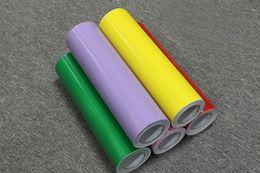 Wholesale Color Self Adhesive Vinyl Film - Wholesale-2017 Plotter Cutting Self Adhesive Vinyl Film Rolls Solid Color Decorative Vinyl Wallpaper Glass Self Adhesive Film 60CM*8M